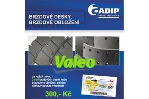 Brzdové desky a obložení VALEO